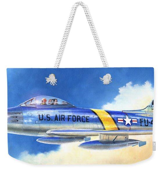 North American F-86f Sabre Weekender Tote Bag