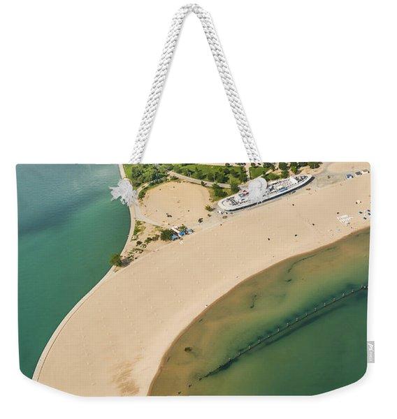 North Avenue Beach And Castaways Restaurant Weekender Tote Bag