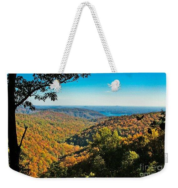 North Carolina Fall Foliage Weekender Tote Bag