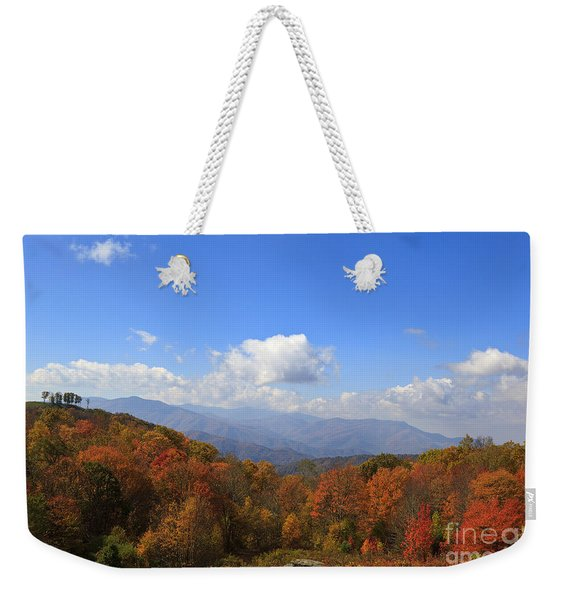 North Carolina Mountains In The Fall Weekender Tote Bag