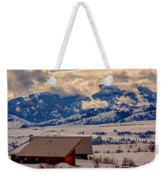 North Cascades Mountain View Weekender Tote Bag