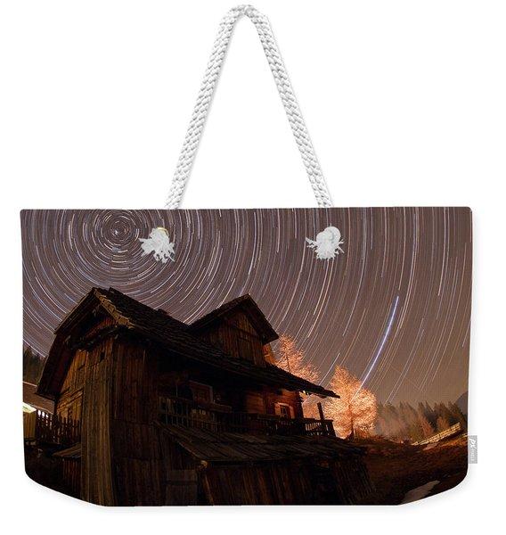 North Celestial Pole Weekender Tote Bag