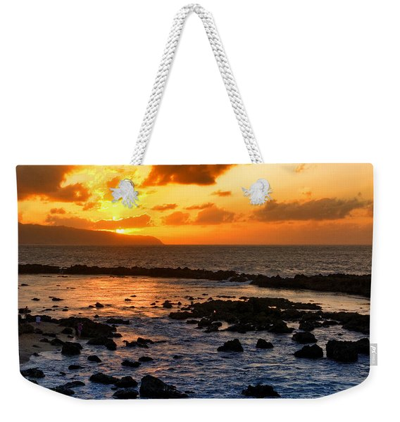 North Shore Sunset Weekender Tote Bag