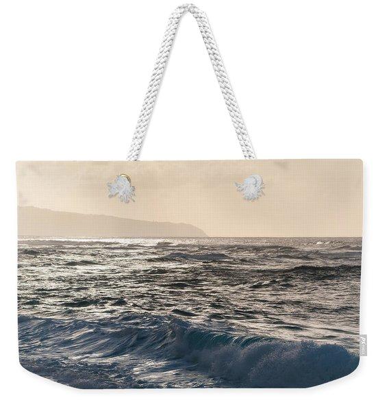 North Shore Waves Weekender Tote Bag