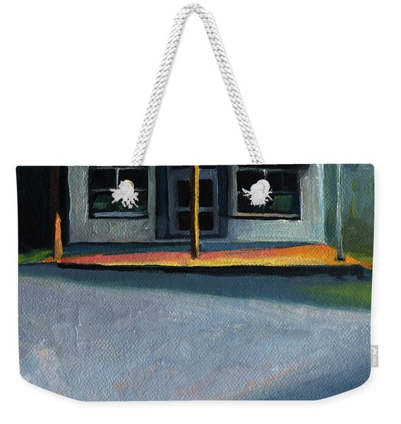 Nostalgic Icon Hucksteps Garage And Store Weekender Tote Bag