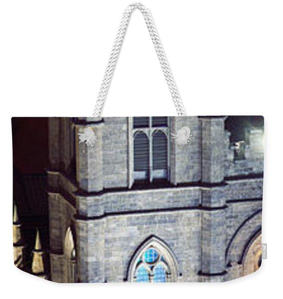 Notre Dame De Montreal At Night Weekender Tote Bag