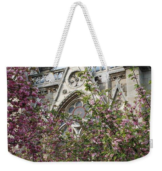 Notre Dame In April Weekender Tote Bag