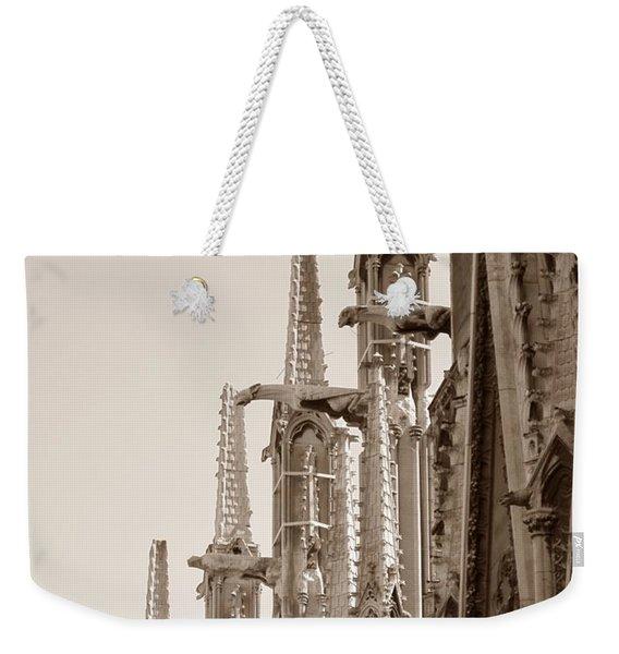 Notre Dame Sentries Sepia Weekender Tote Bag