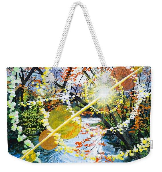 The Glorious River Weekender Tote Bag