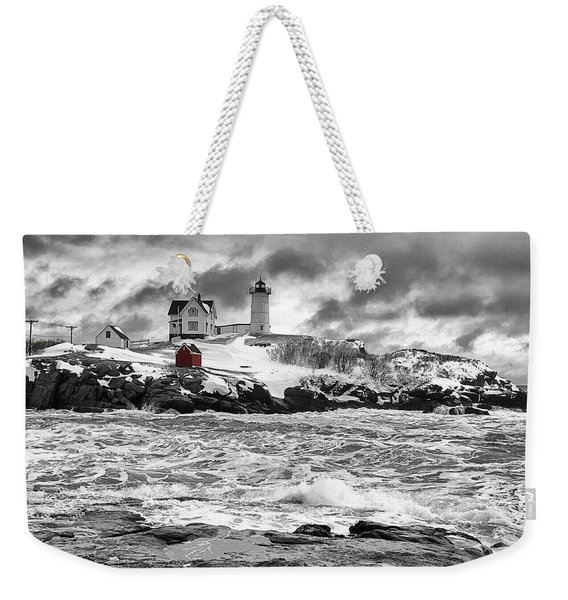 Nubble Lighthouse After The Storm Weekender Tote Bag