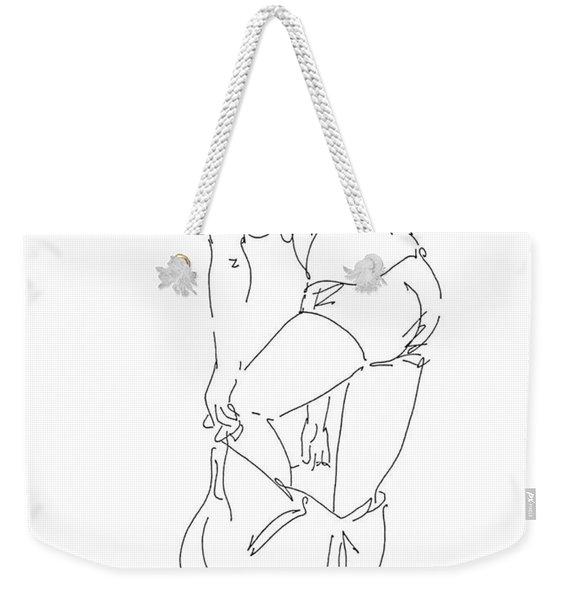Nude Female Drawings 1 Weekender Tote Bag