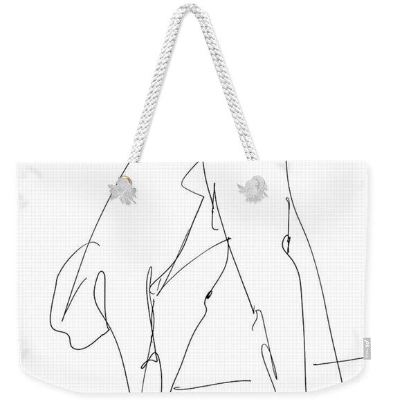 Nude Male Drawings 32 Weekender Tote Bag