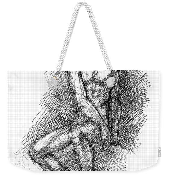Nude Male Sketches 1 Weekender Tote Bag