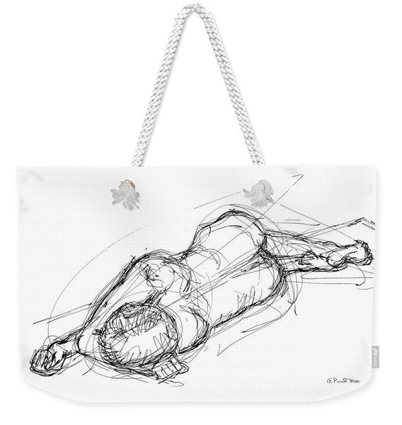 Nude Male Sketches 4 Weekender Tote Bag