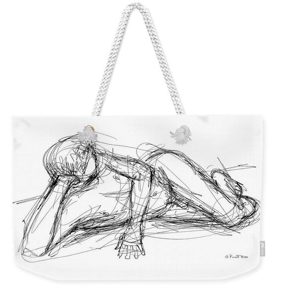 Nude Male Sketches 5 Weekender Tote Bag