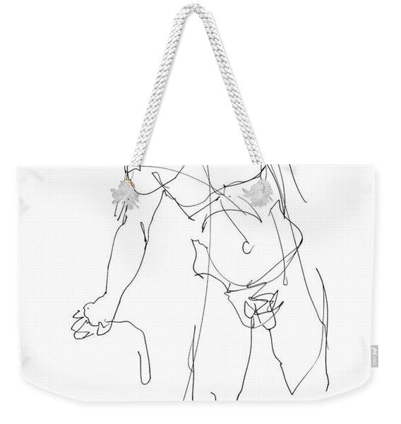 Nude_male_drawing_30 Weekender Tote Bag
