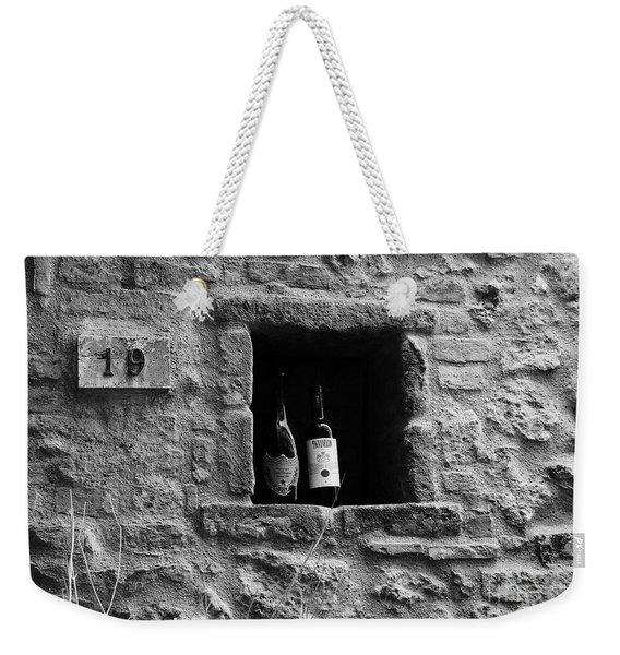 Number 19 Bw Weekender Tote Bag