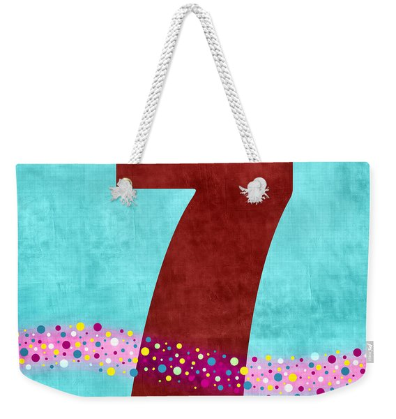 Number Seven Flotation Device Weekender Tote Bag