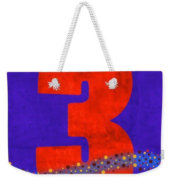 Number Three Flotation Device Weekender Tote Bag