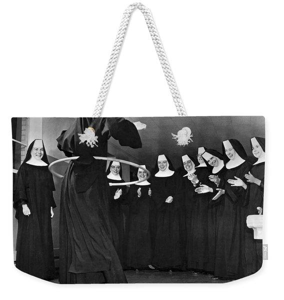 Nun Swivels Hula Hoop On Hips Weekender Tote Bag