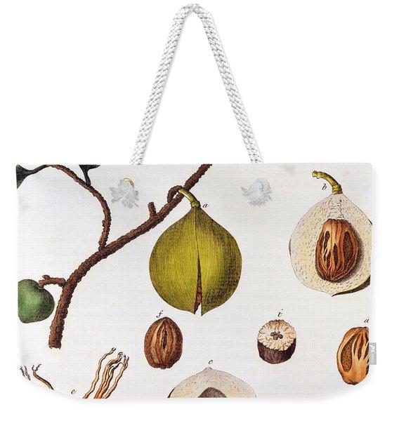 Nutmeg Myrsitica Fragrans Weekender Tote Bag