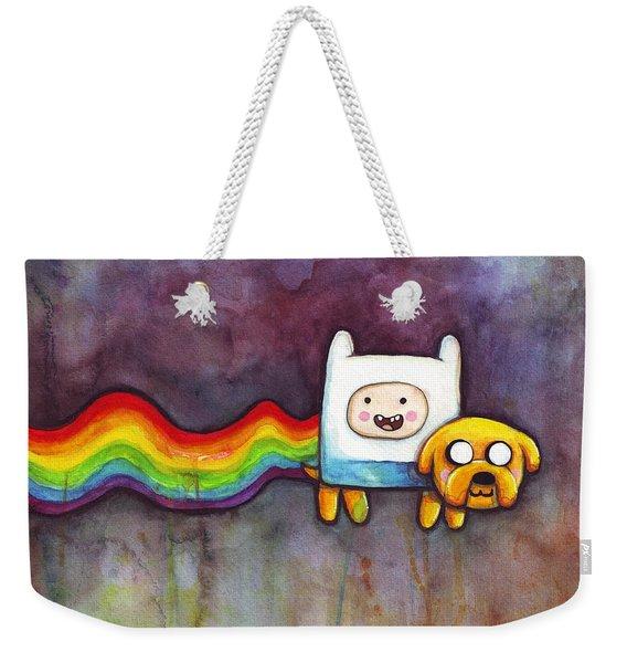 Nyan Time Weekender Tote Bag