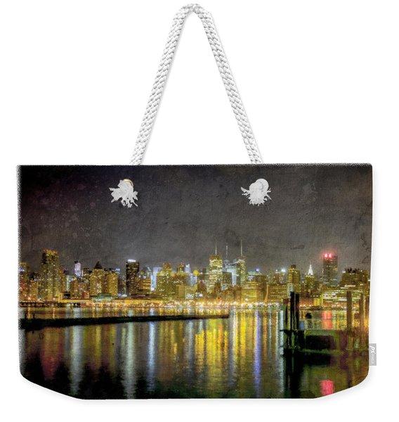 Nyc At Night Weekender Tote Bag