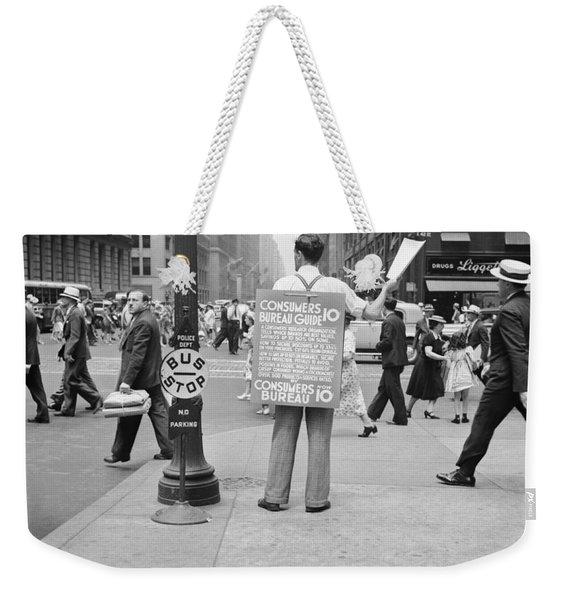 Nyc Corner Vendor Weekender Tote Bag