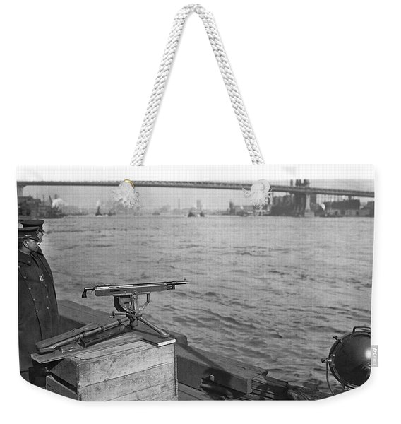 Nyc Prohibition Police Boat Weekender Tote Bag