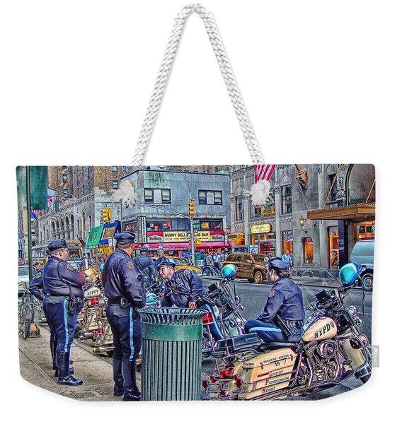 Nypd Highway Patrol Weekender Tote Bag
