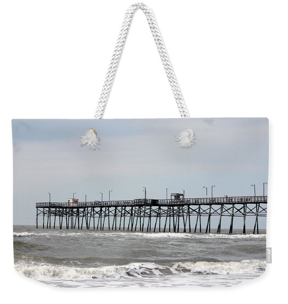 Oak Island Beach Pier Weekender Tote Bag