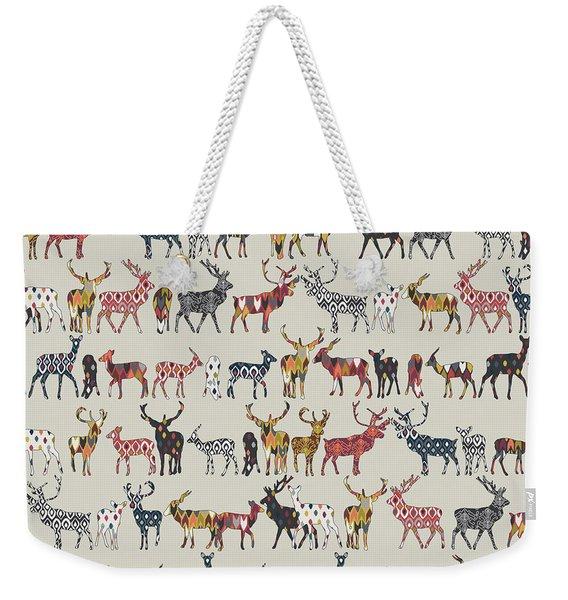 Oatmeal Spice Deer Weekender Tote Bag