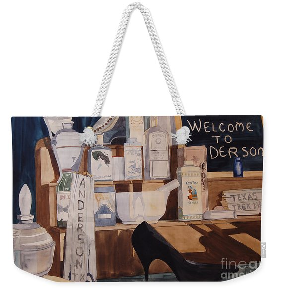 Oberkamp Drugstore Window Weekender Tote Bag