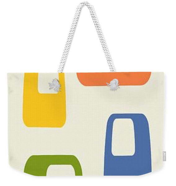 Weekender Tote Bag featuring the digital art Oblongs by Donna Mibus