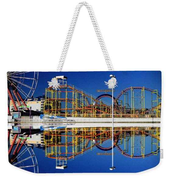 Ocean City Amusement Pier Reflections Weekender Tote Bag