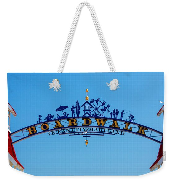 Ocean City Boardwalk Arch Weekender Tote Bag