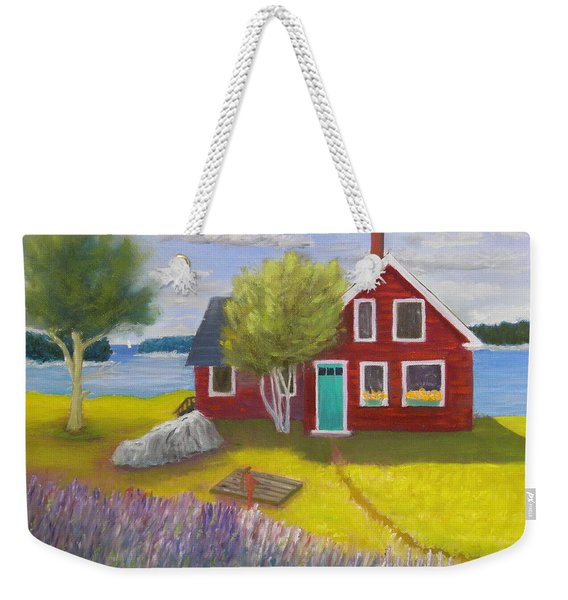 Ocean Cottage Weekender Tote Bag