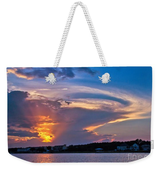 Weekender Tote Bag featuring the photograph Ocean Isle Sunset by Jemmy Archer
