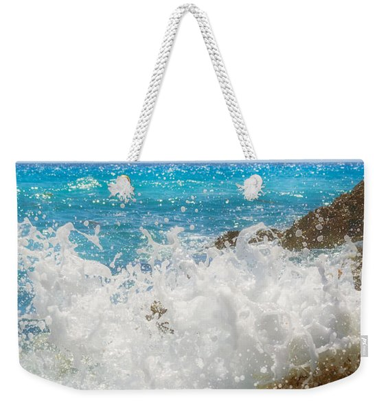 Weekender Tote Bag featuring the photograph Ocean Spray by Garvin Hunter