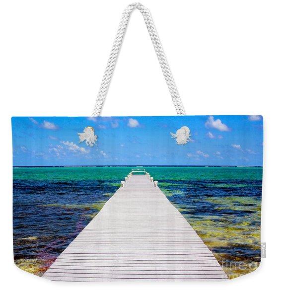 Ocean Walkway Weekender Tote Bag