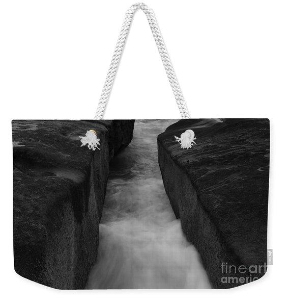 La Jolla Rocks In Surf  Weekender Tote Bag
