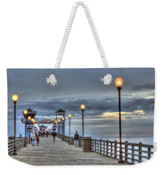 Oceanside Pier At Sunset Weekender Tote Bag