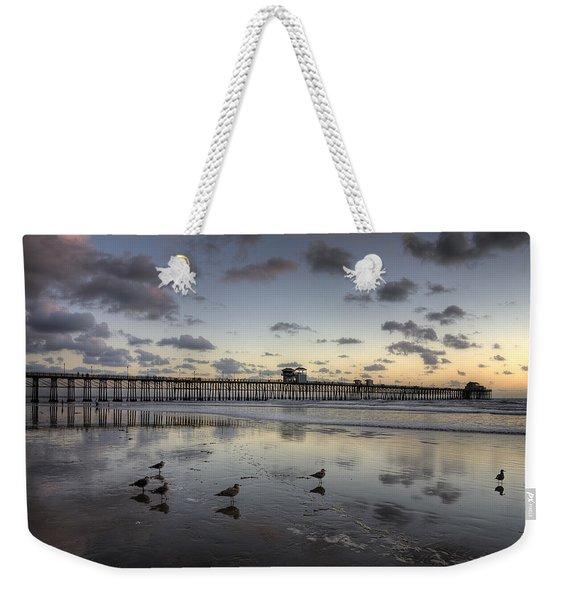Oceanside Pier Birds Weekender Tote Bag