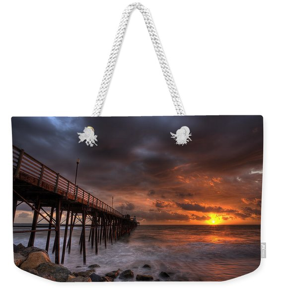 Oceanside Pier Perfect Sunset Weekender Tote Bag