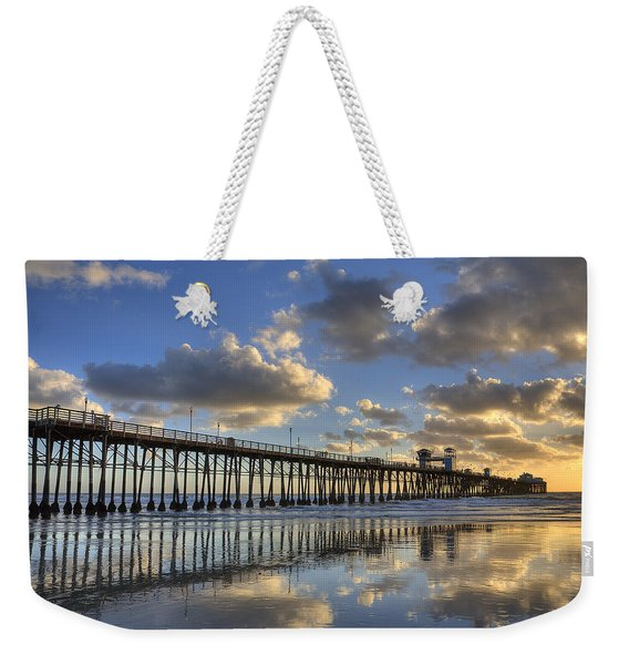 Oceanside Pier Sunset Reflection Weekender Tote Bag