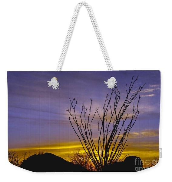 Ocotillo Cacti Weekender Tote Bag