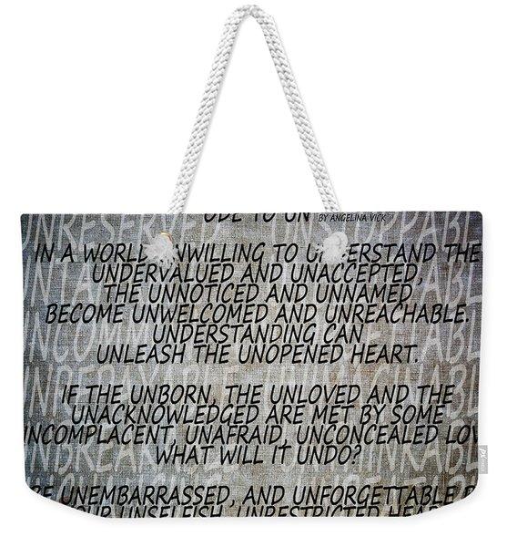 Ode To Un Weekender Tote Bag