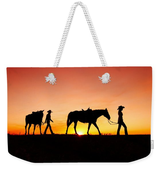 Off To The Barn Weekender Tote Bag