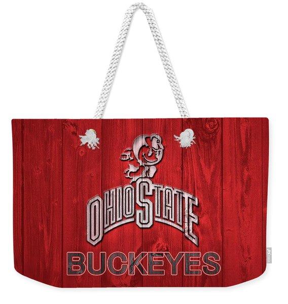 Ohio State Buckeyes Barn Door Weekender Tote Bag