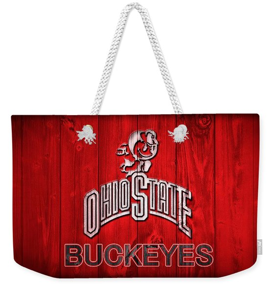 Ohio State Buckeyes Barn Door Vignette Weekender Tote Bag